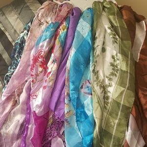 Accessories - [Bundle] Head scarves silky squares